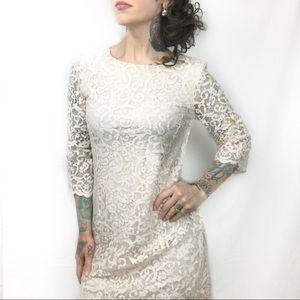 H&M Ivory Lace Dress